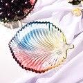 Красочный стеклянный поднос для хранения листьев/в форме сердца  фруктовая закуска  десертная тарелка  подносы для ювелирных изделий  орган...