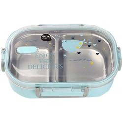 Lunchbox pudełko na lunch ze stali nierdzewnej zamknięty pojemnik bento pudełko na żywność pudełko do przechowywania żywności na piknik szkolny Camping w Pudełka śniadaniowe od Dom i ogród na