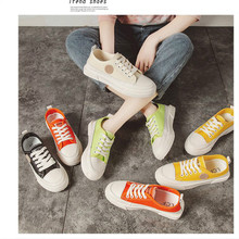 Canvas Fashion Shoes Woman 2019 Summer Candy Color Women Casual Flats Tenis Basket Sneakers
