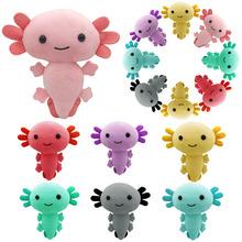 Kawaii Axolotl pluszowe zabawki Cartoon Cute Animal nadziewane pluszowe lalki dla dzieci urodziny świąteczne prezenty na Halloween tanie tanio CN (pochodzenie) Tv movie postaci MATERNITY W wieku 0-6m 7-12m 13-24m 25-36m 4-6y 7-12y 12 + y 18 + Genius Lalka pluszowa nano