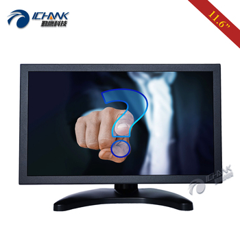 """ZB116TC-253D/11.6"""" 12'' inch 1920x1080p IPS Widescreen HDMI Driver Free Capacitive Touch LCD Screen PC Monitor Display"""