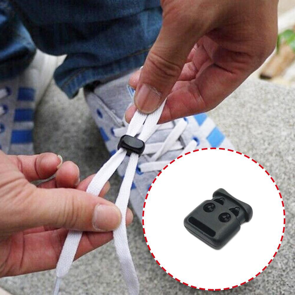 Hot Sale Elastic Shoe Lace 10PCS Shoe Lace Shoelace Buckle Rope Clamp Cord Lock Stopper Run Sports Clips