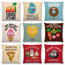 Cartoon Series Cushion Cover Decorative Sofa Pillow Case