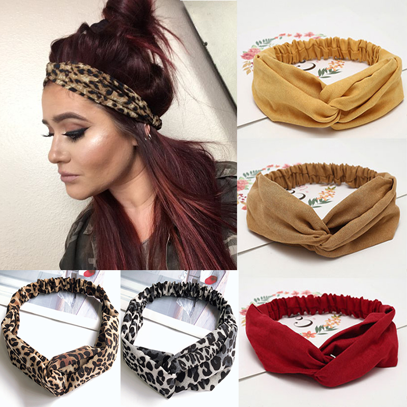 New Fashion Headbands For Women Suede Headband Vintage Cross Knot Elastic Hair Bands Soft Solid Girls Hairband Hair Accessories