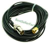 Extensión de cable SMA macho a BNC mamparo hembra 50 Ohm RG174 Cable RF