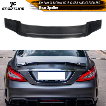 Carbon Fiber / FRP Rear Trunk Spoiler Boot Lip Wing for Mercedes-Benz W218 CLS350 CLS400 CLS500 CLS63 AMG Sedan 2012 - 2017 carbon fiber rear trunk wings m4 spoiler for bmw 4 series f36 420i 428i 435i gran coupe 4 door 2013 gloss black spoiler wing