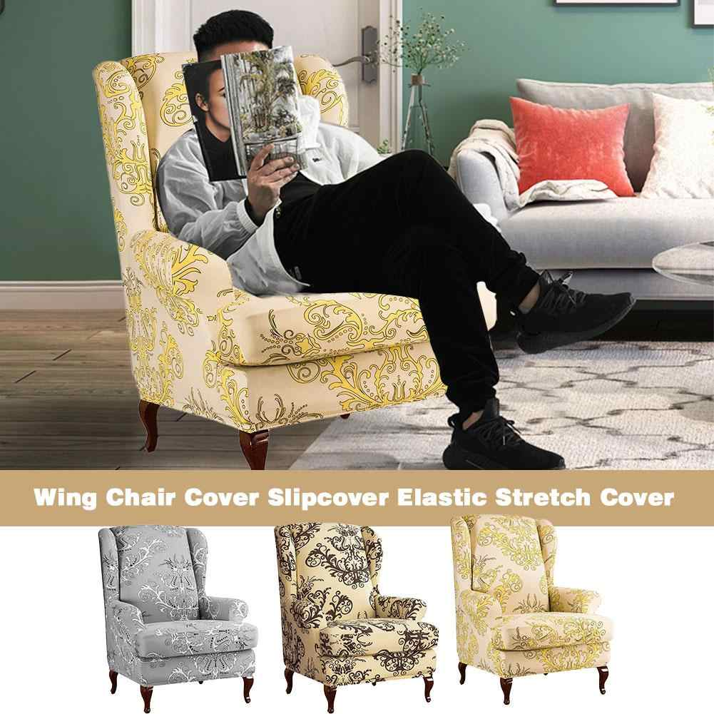 2pcs Wing Chairtiger Stool Cover Slipcover Elastic Stretch Cover With Separate Cushion Cover For Armchair Home Decoration Chair Cover Aliexpress