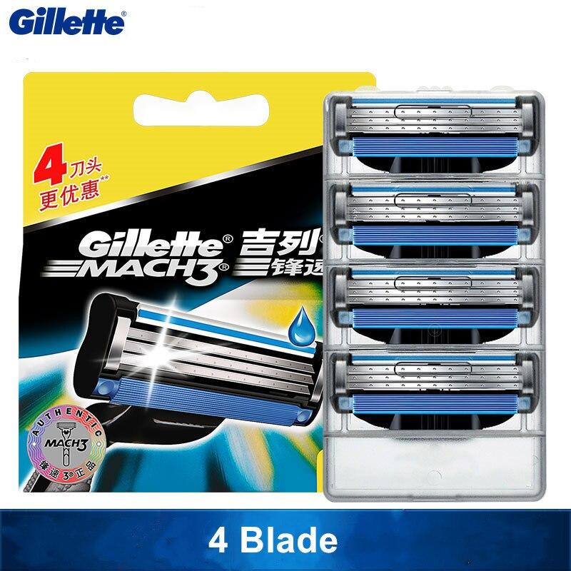 New Original Gillette Mach 3 Razor Blades Mach3 Brand For Men Beard Shaved Razor Blade Travel Case Shaving And Hair Removal