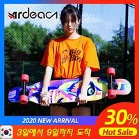 Ardea Skateboard longboard Adult Teenagers girl Russia Maple Natural Wood Retro fashion Flat-Plate Double Rocker skate boards