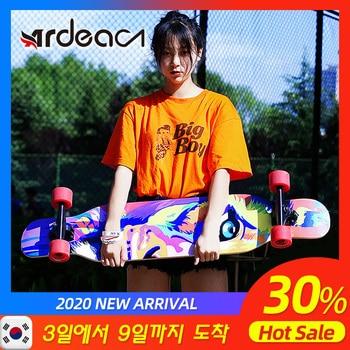Ardea-patineta de madera Natural de arce para adultos, adolescentes y niñas, a...