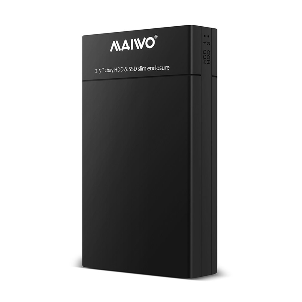 K25682 2.5 inch Dual Bay HDD SSD Slim Enclosure USB3.0 Storage External Hard Disk Drive For Desktop And Laptop Hard Disk