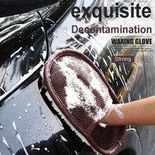 Чистящие детали для мытья автомобиля, мягкие губчатые перчатки, очиститель стекла, голубая волна, инструмент для мытья автомобиля, автомобильные аксессуары# PY10