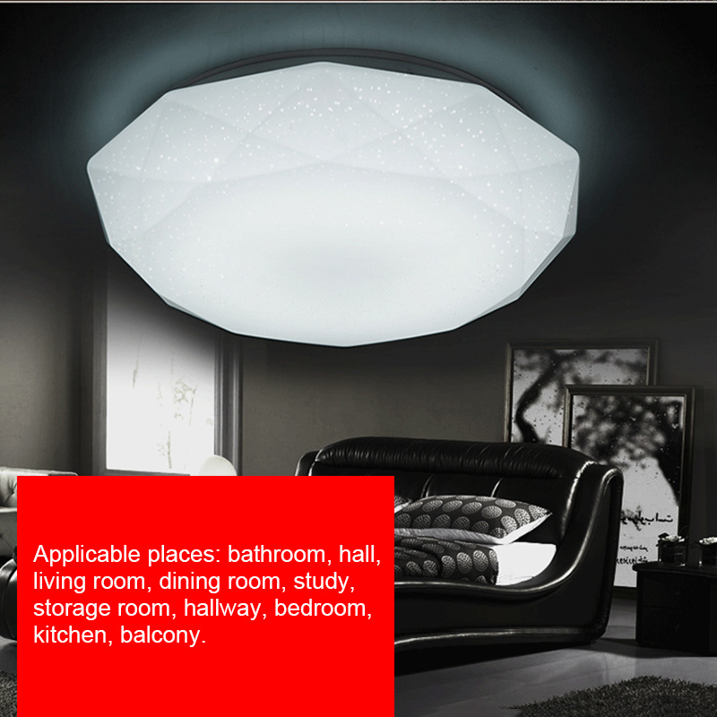 LED Ceiling Lamp Fixture Diamond Shaped Light for Hallway Living Room Kitchen Bedroom Surface Mounted 12W/18W/24W/15W/30W LB88