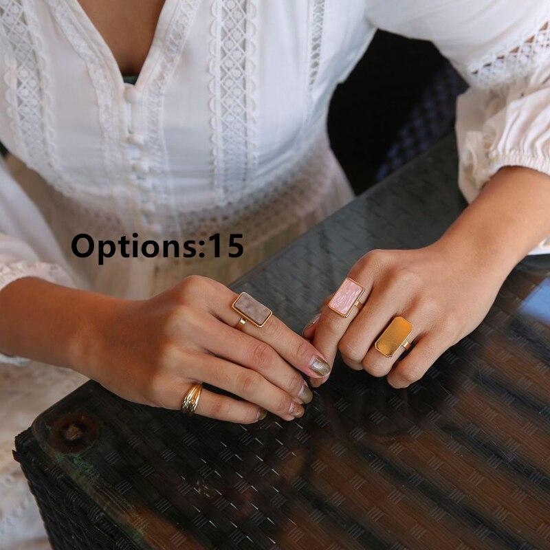 Женские кольца на палец HZ, винтажные вечерние кольца с разноцветными камнями, 8 шт./компл., лето 2019 2