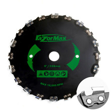 Universal 230mm Brushcutter Saw Blade Trimmer Head w/ Chain Max Speed 10000rpm For Trimmer Lawnmover