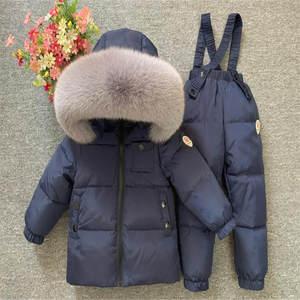 Suit Pants Ski-Jackets Baby-Boys-Girls Coat Overalls Outerwear Toddler Kids Children