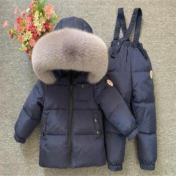 Детская Лыжная куртка, детский лыжный пуховик и штаны, комбинезон для маленьких мальчиков и девочек 0 12 лет, зимний комбинезон, верхняя одежд