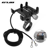 Nuovo supporto per telefono cellulare in alluminio GUB G-91 supporto per bicicletta ricaricabile USB supporto per manubrio per Smartphone elettrico per Scooter