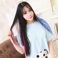 Akcesoria do włosów opaski opaski do włosów dla kobiet syntetyczne długie proste włosy syntetyczne 37Colors50cm
