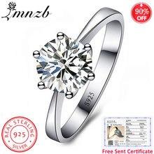 Lmnzb 100% Стерлинговое Серебро 925 пробы кольцо классика шесть