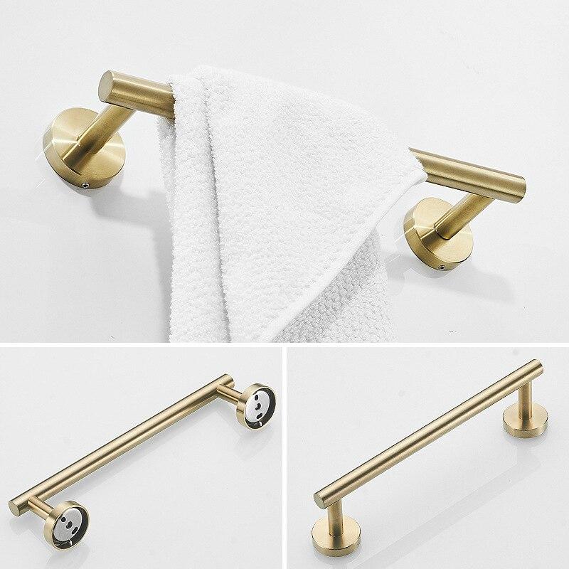 Ванная комната фурнитура золото нержавеющая сталь сталь ванная комната полотенце бар ванная крючок настенный туалет бумага держатель полотенце вешалка набор