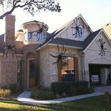 Halloween Horrible Big Black Furry Fake Spider Size 75cm,90cm,125cm,150cm,200cm Creep Trick Or Treat home Decoration