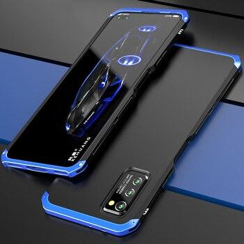 Перейти на Алиэкспресс и купить Роскошный ударопрочный чехол для Honor View 30 Pro Slim V30 Pro Жесткий Алюминиевый металлический и гибридный ПК чехол для Huawei Honor View30 Pro