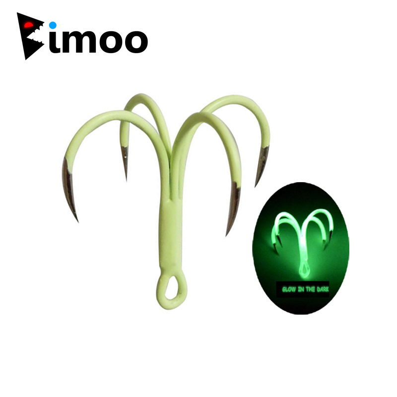Bimoo 2Pcs/<font><b>Bag</b></font> Glow Night Quadruple Hooks Luminous <font><b>Squid</b></font> Octopus Artificial Bait Fishing Lure Hook Saltwater Fishing Lure <font><b>Jigs</b></font> image