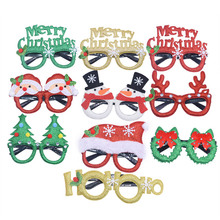 Christmas Decorations Merry Santa Claus Snowman Frame Glasses Kids Toy Party 2020 New Year Decor