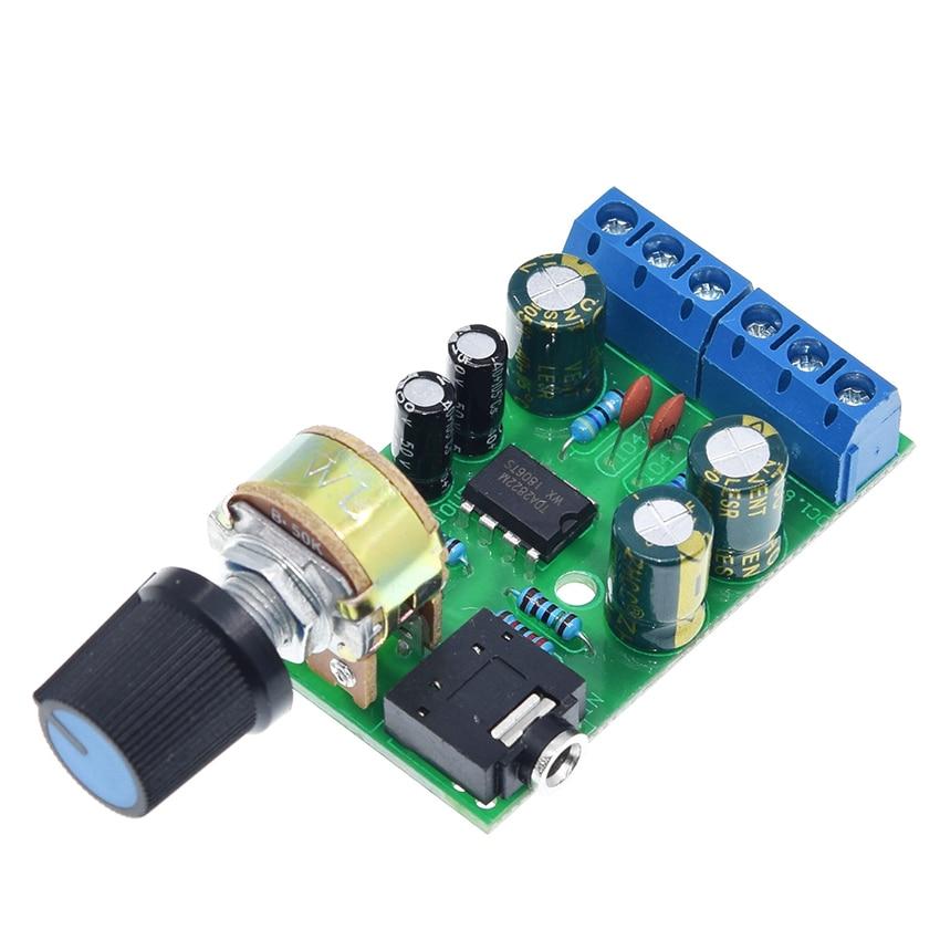 TDA2822M Amplifier Board DC2V-12V 1.5W Dual Channel 2.0 Stereo Bluetooth Audio Amplifier Board Mini AMP AUX Amplifier Module