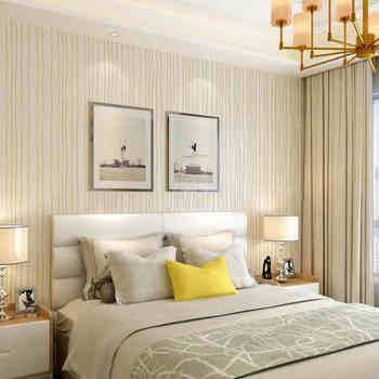 Серые вертикальные полосы обои для гостиной спальни стены замша кожа Настенный декор