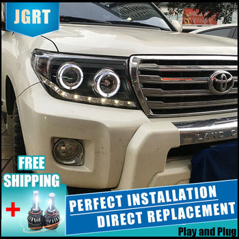 2PCS LED Headlights For Toyota land cruiser 2009-2013 Car Led Lights Double Xenon Lens Car Accessories Daytime Running Lights