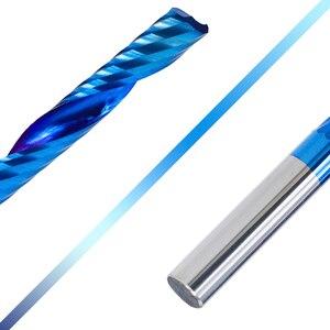 Image 5 - XCAN 1 adet 4/6mm şaft 1 flüt uç freze karbür End Mill mavi kaplama CNC Router Bit tek flüt uç freze uç frezesi kesici