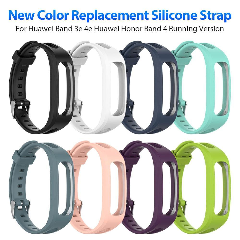 Watch Band Silicone Wrist Strap for Huawei 3e 4e Smart Watchband For Huawei Honor Band 4 Running Version Bracelet Strap(China)