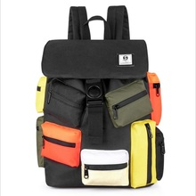 New Style Collision Color Travel Backpack Bag Fashion Shoulder Backpack Bag College Bag Student Backpack Minimalist Backpack Bag