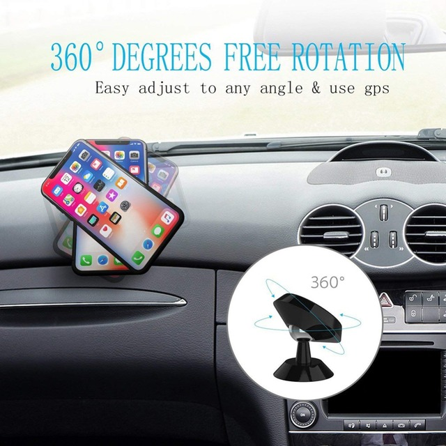 Universal Magnetic Car Phone Holder Stand For iPhone Samsung Magnet Mount Car Holder For Phone in Car Cell Mobile Phone Support 4