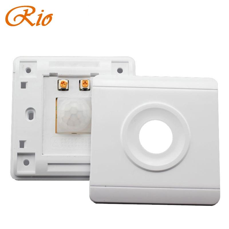 PIR Human Body Sensor Switch Intelligent Photographic Adjustable Corridor LED Lights Energy-saving Lamps Delay Infrared Switch