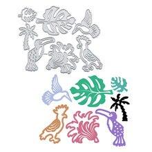 YaMinSanNiO Birds Metal Cutting Dies Leaves Flower DIY Etched Craft Paper Card Making Scrapbooking Embossing New