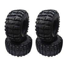 4 pces rock crawler 2.2 Polegada pneus macio 138mm pneu com espumas para axial wraith rr10 scx10 jeep wrangler TRX-4 2.2 roda