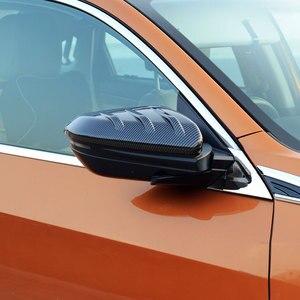 Image 4 - Preto 1 par de fibra carbono estilo porta lateral espelho retrovisor capa guarnição tampa apto para honda civic 2016 2017 2018 2019 2020