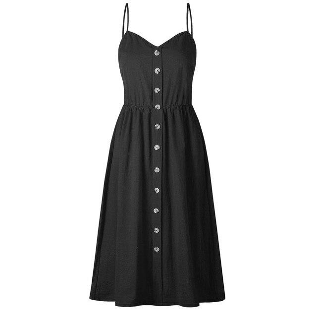 Women long dress sexy Vintage plus size fashion Dress For Women summer Casual dress Elegant Sleeveless A Line Dress loose Female 5