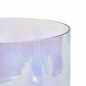 """Image 3 - CVNC 7 """"432 Гц 4 октавная серая прозрачная кварцевая Хрустальная Поющая чаша с космичессветильник том"""