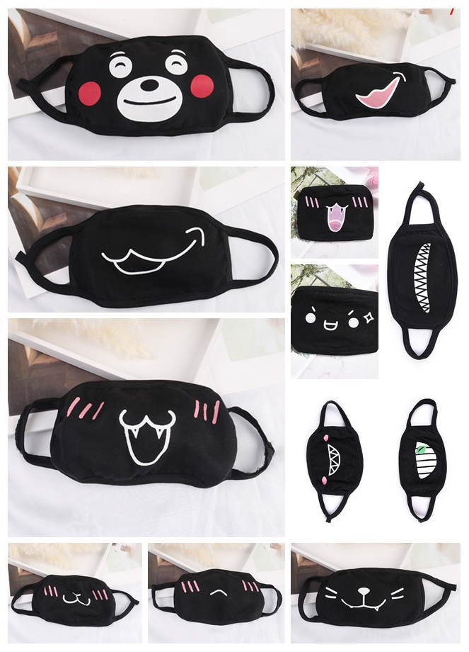 1PC Cute Anime Cartoon Face Mask Mouth Muffle Unisex Style Cover Cycling Anti Dust Cotton Face Protective Cover Masks New