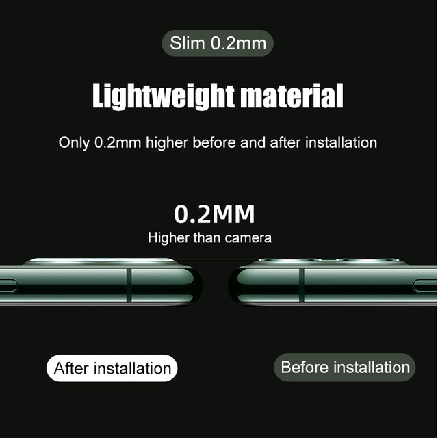 Camera Protection Glass For iPhone 11 Pro Max X XR XS MAX Screen Protector For iPhone 11 7 8 Plus SE Camera Lens Glass 5