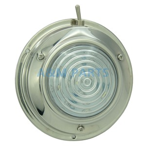 Image 2 - LED Dome Light With Switch 12V Boat Caravan Marine RV Cabin Interior Decorative Lamp Stainless Steel Housing 4.5 inch Cool White