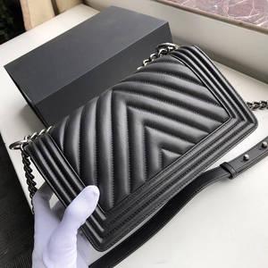 Brand Purse Handbags Designer-Bag Caviar Top-Quality Genuine-Leather Women Luxury Chain
