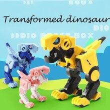 Transformation cube Verformbaren Dinosaurier Tyrannosaurus Rex Action & Spielzeug Figuren geburtstag geschenk für junge Gelenke traudl junge hitleri sekretäri mälestused
