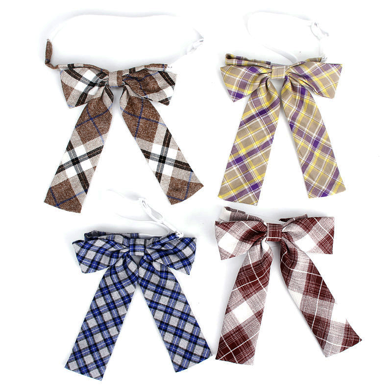 Plaid Check Ladies Bowtie Classic Shirts Bow Tie For Women Business Bowknot Uniform School Bow Ties Butterfly Girls Suit Bowties
