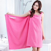 Variety magic couple models can wear bath towels wrapped in adult bathrobes absorbent bathing towels men and women bath skirts