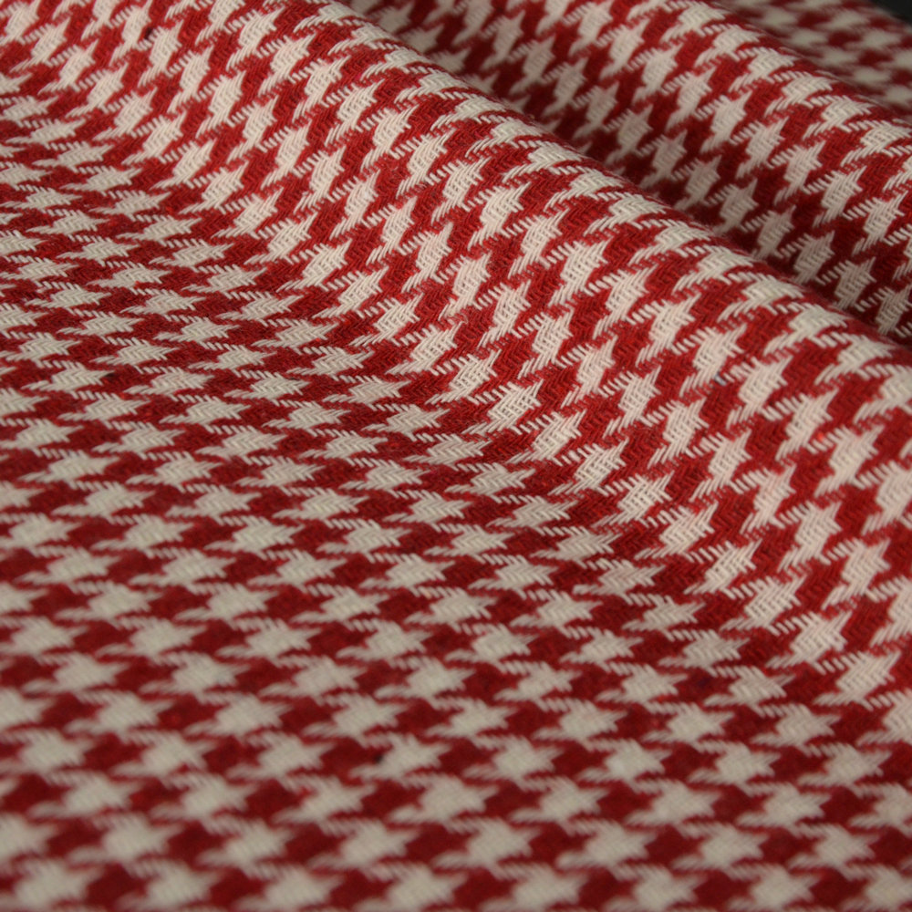 (<font><b>50</b></font> cm/lot) blend weave tweed fabric for sewing Houndstooth fabrics woolen cloth quilting for patchwork DIY skirt needlework image